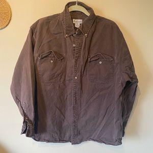 Carhartt men's size XL brown buttoned down shirt.